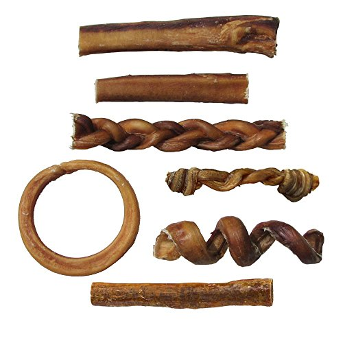 bully stick variety pack includes 7 different thick low odor import it all. Black Bedroom Furniture Sets. Home Design Ideas