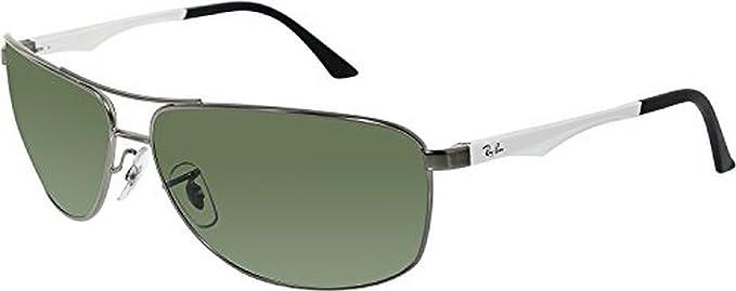 f43cf21d1995 Ray-Ban RB3506 Sunglasses Matte Gunmetal   Polar Green 64mm   Cleaning Kit  Bundle