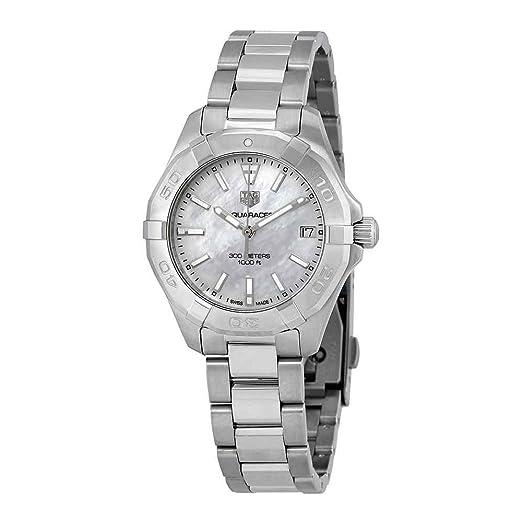 TAG Heuer Aquaracer Reloj de mujer cuarzo 32mm correa de acero WBD1311.BA0740: TAG Heuer: Amazon.es: Relojes