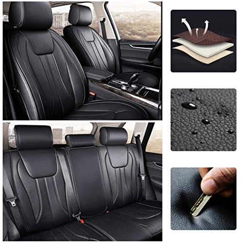 for BMW 2 Series Station Wagon 2015-2016 Car Seat Covers Sets Luxury PU Leather Car Interior Seat Cushion Car Seat Cover Seat Back Mat Protector Black