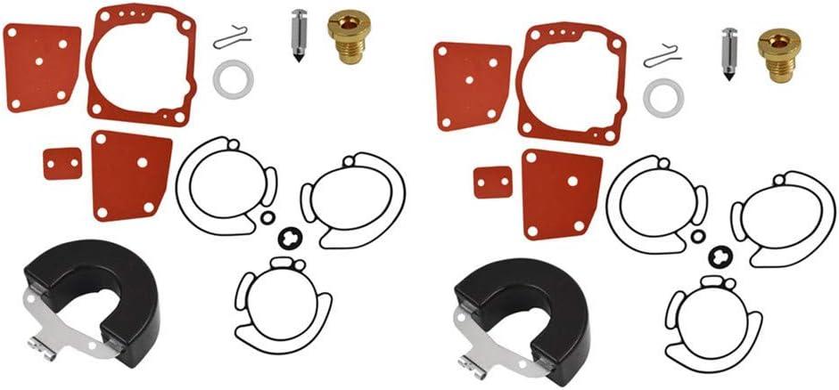 2 x Carburetor Carb Repair Rebuild Kits Fit for Johnson Evinrude V4 V6 90 100 115 150 175 HP 438996