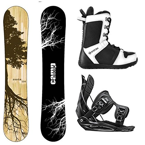 Camp Seven Roots CRC Snowboard and Flow Alpha MTN Complete Men's Snowboard Package 2021