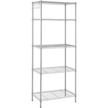 Amazon Com Amazonbasics 5 Shelf Shelving Unit Black
