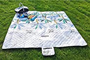 RRMMAN Outdoor Picnic mat,Outdoor Picnic Blanket,Picnic Blanket Water Resistant,Oversized Foldable Camping Bla