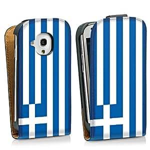 Diseño para Samsung Galaxy S3 Mini I8190 DesignTasche Downflip black - Flag of Greece