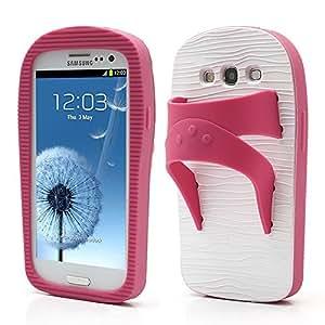 Carcasa de silicona con forma de sandalia para Samsung Galaxy S3 / III I9300. Azul y rosa