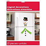 snowman refrigerator magnet - Snowman Holiday Refrigerator Magnet Decoration, 13pc