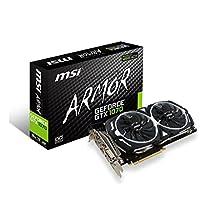 MSI GeForce GTX 1070 ARMOR 8G OC Video Card 8GB GDDR5 256B PCI Express SATA HDMI/DL-DVI D/3xDisplayPorts Retail