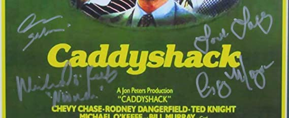 Caddyshack Movie Signed Spalding, Noonan, Lacey Framed 11x17 Poster JSA 139957 at Amazons Sports Collectibles Store