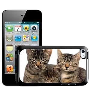 Fancy A Snuggle 3 Carcasa de gatitos con los ojos Diseño de familia de carcasa rígida para Apple iPod Touch 4th generación