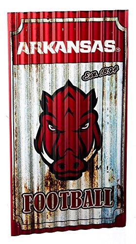 Team Sports America Arkansas Razorbacks Corrugated Metal Wall Art