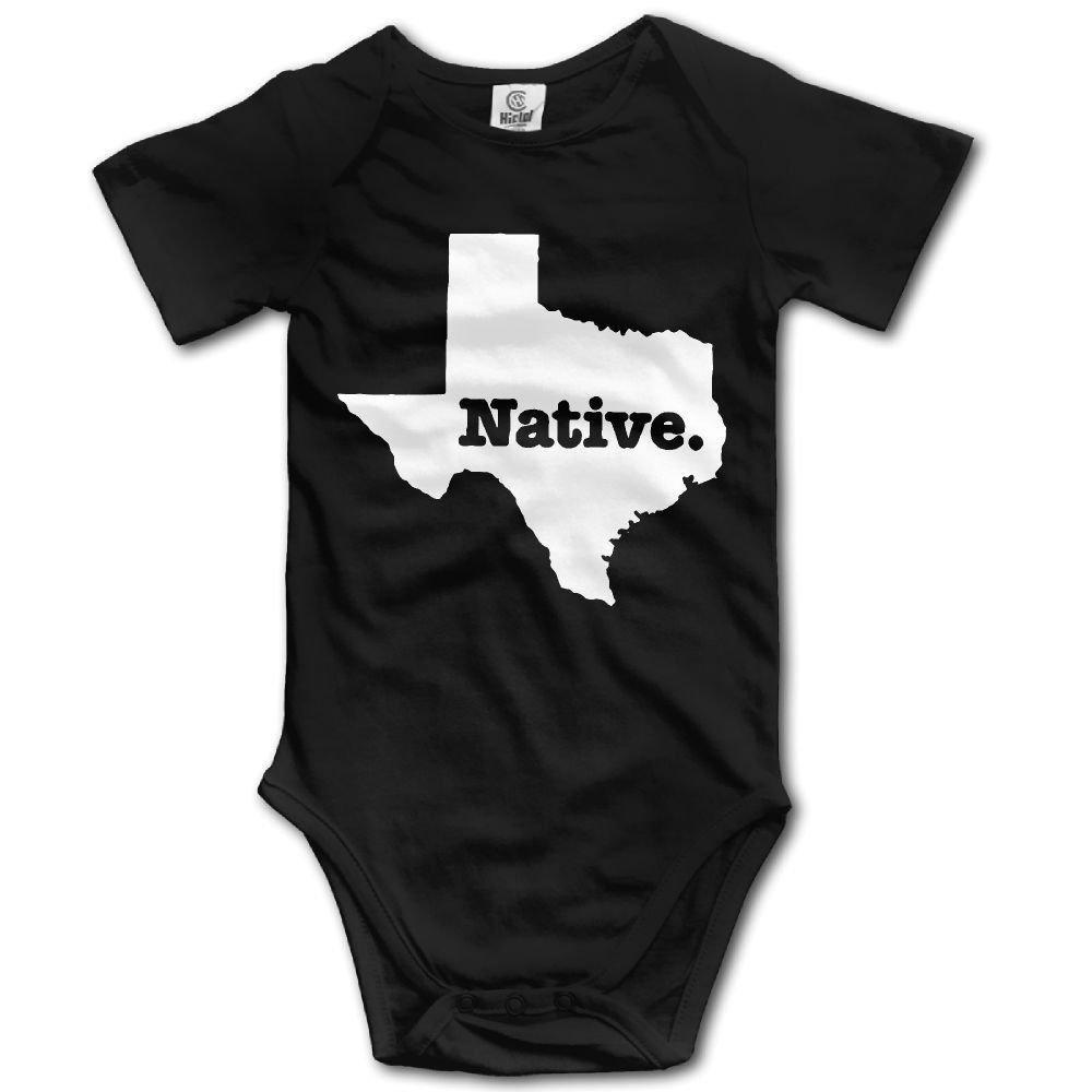 Texas Native Baby Newborn Infant Creeper Short Sleeves Onesie Romper Jumpsuit