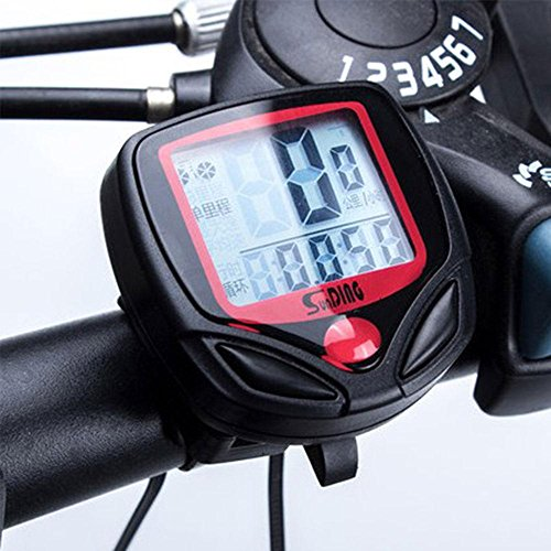 Aolvo Bike Computer Waterproof, Bicycle Speedometer Cyclocomputer Wired, Bicycle Odometer Multi-function for Cycling Accessories, Mini Bike Speedometer for Dirt Bike/Road Bike/Mountain Bike