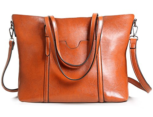 Womens Tote Bag Leather Handbag Top Handle Satchel Shoulder Bags Ladies Purse by Zecmos