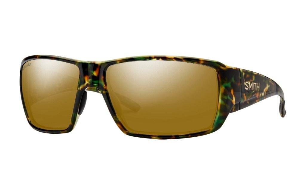 Smith Optics Mens Guides Choice Lifestyle Polarized Sunglasses Flecked Green Tortoise / ChromaPop Bronze Mirror