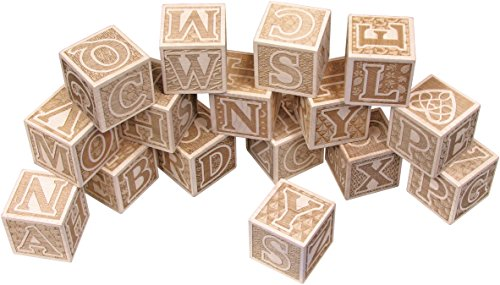 Natural Wooden ABC Blocks - Made in USA made in New England