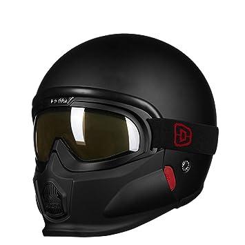 Y-Meanrnty Máscara Militar Casco de Motocicleta 3/4 Cara ...