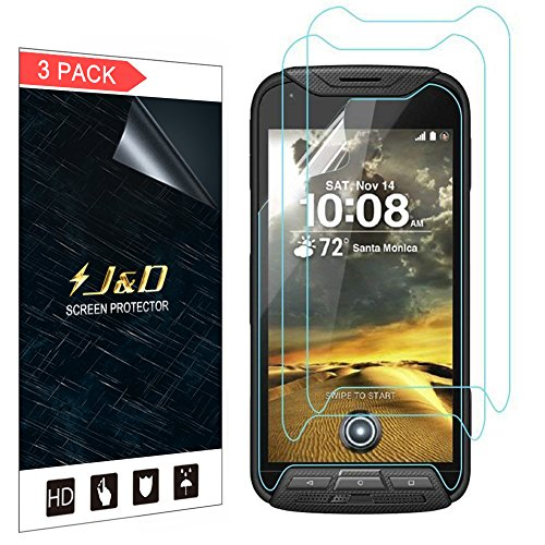 J&D Compatible for 3-Pack Kyocera DuraForce Pro Screen Protector, [Not Full Coverage] Premium HD Clear Film Shield Screen Protector for Kyocera DuraForce Pro Crystal Clear Screen Protector