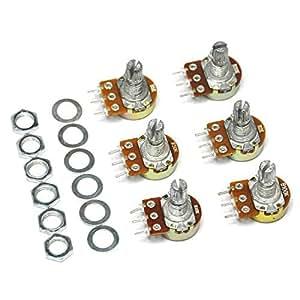 Gikfun B10K B100K B5K B50K B2K B20K Ohm Knurled Shaft Linear Rotary Taper Potentiometer for Arduino EK8359