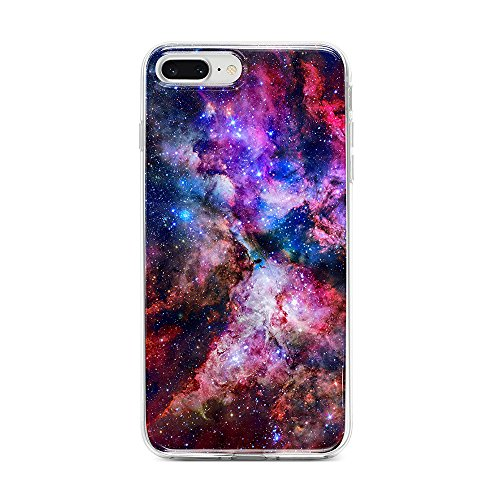 Obbii Case for iPhone 7 Plus/ 8 Plus/6 Plus/6S Plus Outer Space Nebula Galaxy Design Slim TPU Flexible Soft Silicone Protective Durable Cover Case Compatible with iPhone 7 Plus/8 Plus/6/6S Plus(5.5)