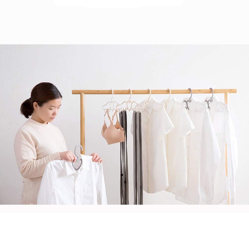 Grigio + Beige + Bianco Yangmg Moderno Grucce di Plastica Appendiabiti Salvaspazio Rivestimento Antiscivolo per Vestiti Pantaloni Cappotti Camicia 3 Pezzi