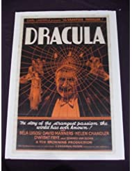 DRACULA 1931 ORIGINAL BELA LUGOSI 27x41 ONE SHEET TOD BROWNING UNIVERSAL HORROR!