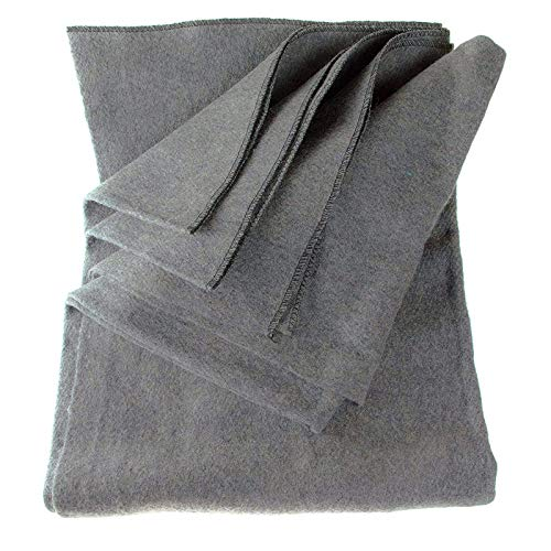 "SE Grey 64"" x 84"" 4-lb. Warm Blanket with 80% Wool"