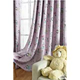 TIYANA Home Decor Cartoon Curtains for Girls Room Little Angels Print Pink Curtains Thermal Insulated Semi Blackout Curtains Window Coverings Curtain Panels Metal Grommet, 1 Panel, Angels, 75x84 inch
