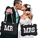 Futaba 'Mr&Mrs' Letter Wedding party Photography Props - Black