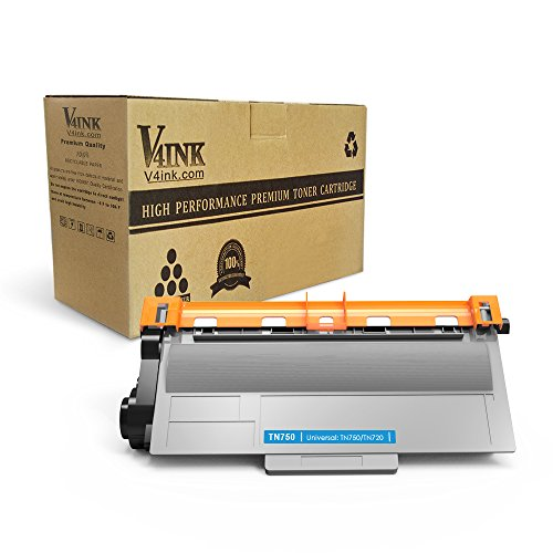 V4INK Compatible Replacement for Brother TN720/ TN750 Toner Cartridge - for use in Brother HL5450DN HL5470DW HL6180DW DCP8110DN MFC8710DW Series Printers