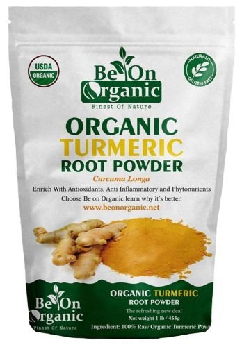 Organic Turmeric Root Powder 14 Ounce (Curcuma Longa) (Indian Haldi) By Be On Organic