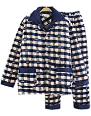 Men Pajamas Warm Thick Cotton Modern Set Sleepwear/Nightwear Clothes for Home, #No.5