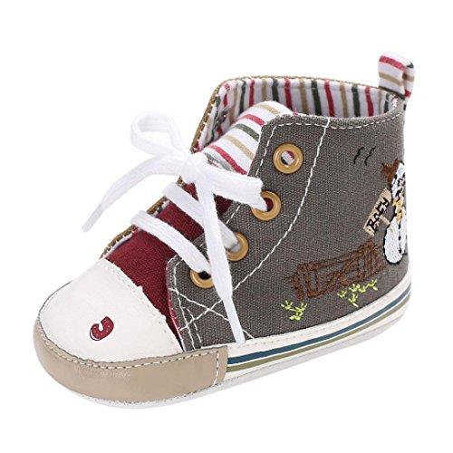 Hunpta Baby Mädchen Jungen weiche Sohle Kleinkind Neugeborenen Schuhe Grau
