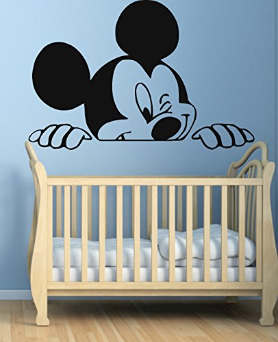 . Funny Mickey Mouse Wall Decal for Nursery Boys Girls Room Decor Vinyl  Stickers MK0042