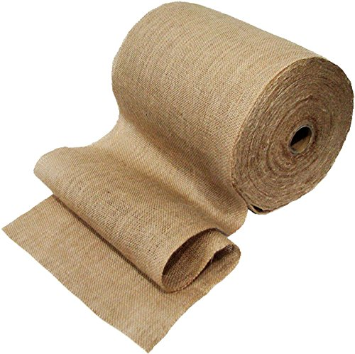 12.5-Inch x 50-Yards Mountain Top Trade Premium Burlap Table Runner Roll With Natural Jute Unfinished Edges