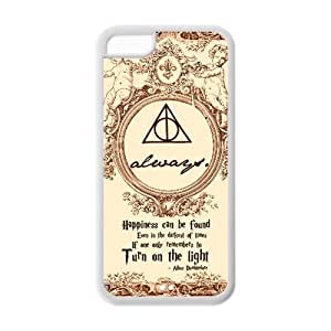 Fashion Harry Potter Hogwarts Apple Iphone 5C Case Cover TPU Laser Technology Deathly hallows map by icecream design