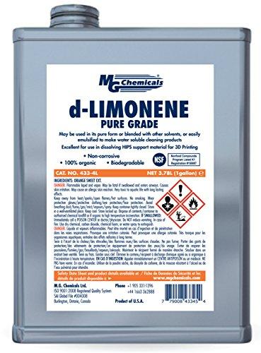 MG Chemicals 433–4L 4 Liter Limonene (Pure Grade) 3D-Druck Chemische klar