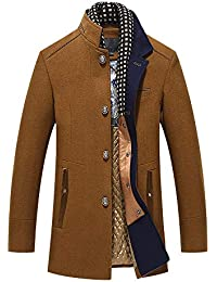 Mens Trench Coat Autumn Winter Long Jacket Overcoat Business Coat Outwear