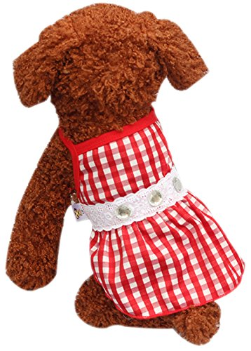 [Uniquorn 2017 New Spring Summer Pet Dog Skirt Stylish Simple Unique Braces Plaid Diamond Skirt Breathable And Comfortable Dogs] (Dorothy Wizard Of Oz Costume Pattern Free)