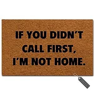 """msmr entrada Felpudo–Felpudo (si usted no Call Primera, I 'm No Casa Hogar decoración interior exterior Felpudo non-woven fabric top 18""""x30"""""""