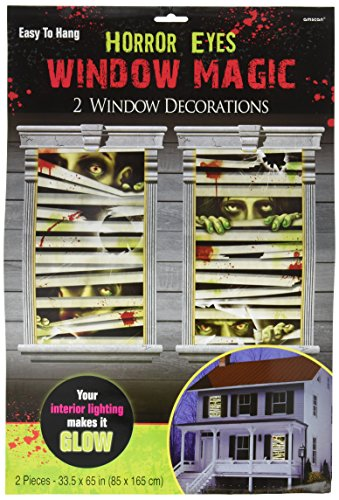 [Horror Eyes Window Magic Halloween Trick or Treat Party Decoration, Plastic, 33