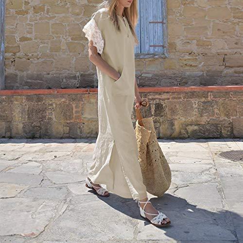 Da Corte Scollo Cachi Con DonnaZarupeng Oversize LateraliVestibilità A Maniche Vestito VSpalline Pizzo In CotoneDonna Vestiti ZOXPkiu