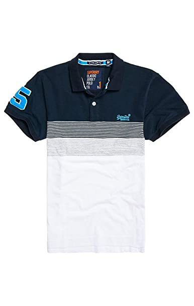 Superdry Classic Lakeside S/s Jersey Polo, Azul (Highlands Navy ...