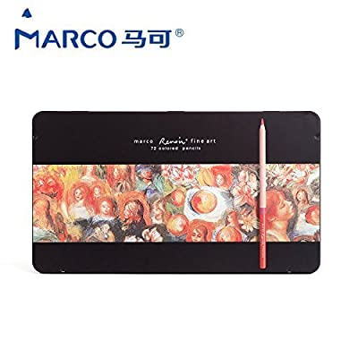Marco Renoir -72 Color Drawing Pencils Set in Tin for Artist