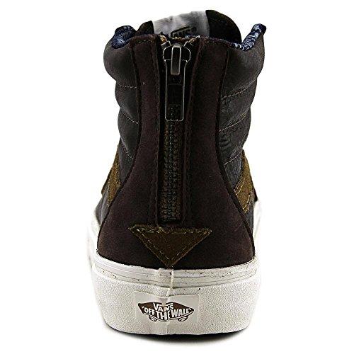 Vans U Sk8-hi Zip ca, Sneaker Alte Uomo Marrone