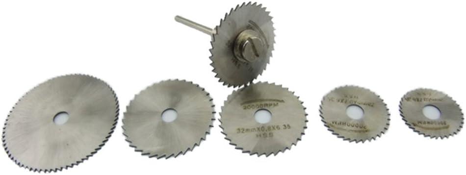 6PCS HSS Scie Circulaire Rotatif Lames Outil Disques Coupe de coupure