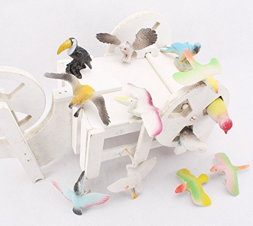 Animals Toys Color : Amaonm pack of d plastic flying birds animals figure