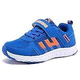 HOBIBEAR Boys' Girls' Mesh Running Sneakers AS3337(5,Blue)
