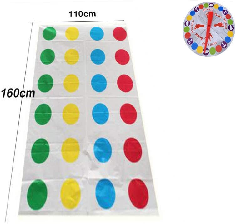 Twister Game Classic Funny Moves Distorted Floor Mat Board Game Twister Exercise Game for Kids and Adult