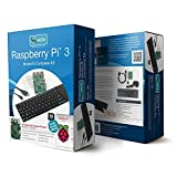 Raspberry Pi 3 Model B Complete Kit with Case, Keyboard, Power Supply, Cables and More